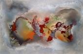 Recorriendo los sentidos Mixta s/tela 100 x 150 cm